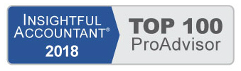 Top 100 ProAdvisor 2018 - Insightful Accountant Logo
